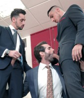 Men at Play - Office Threesome